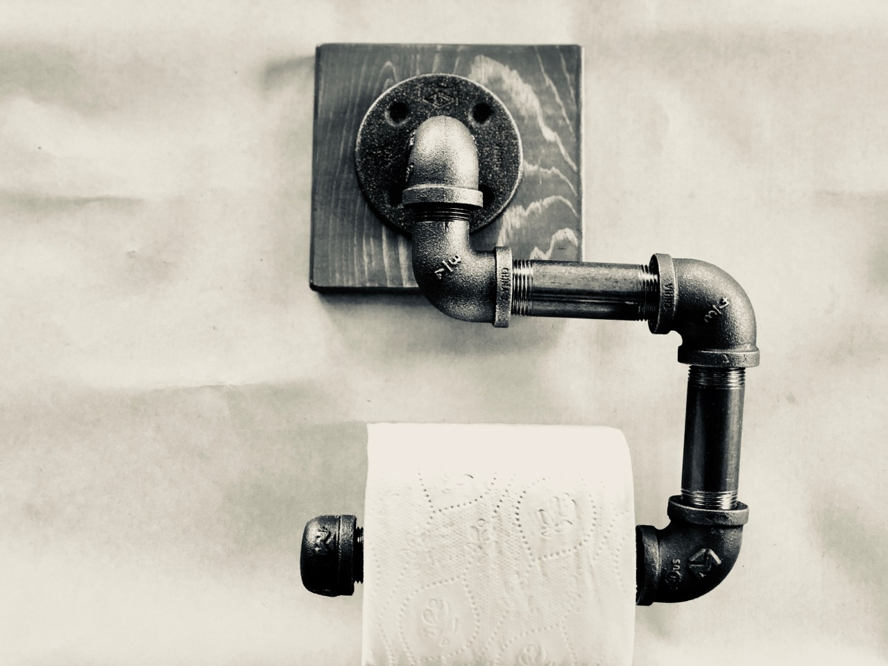 Do it yourself plumbers pipe tp holder plumbers pipe is a great look for any industrial style bathroom let us show you how easy it is to create a plumbers pipe toilet paper holder there are so solutioingenieria Images