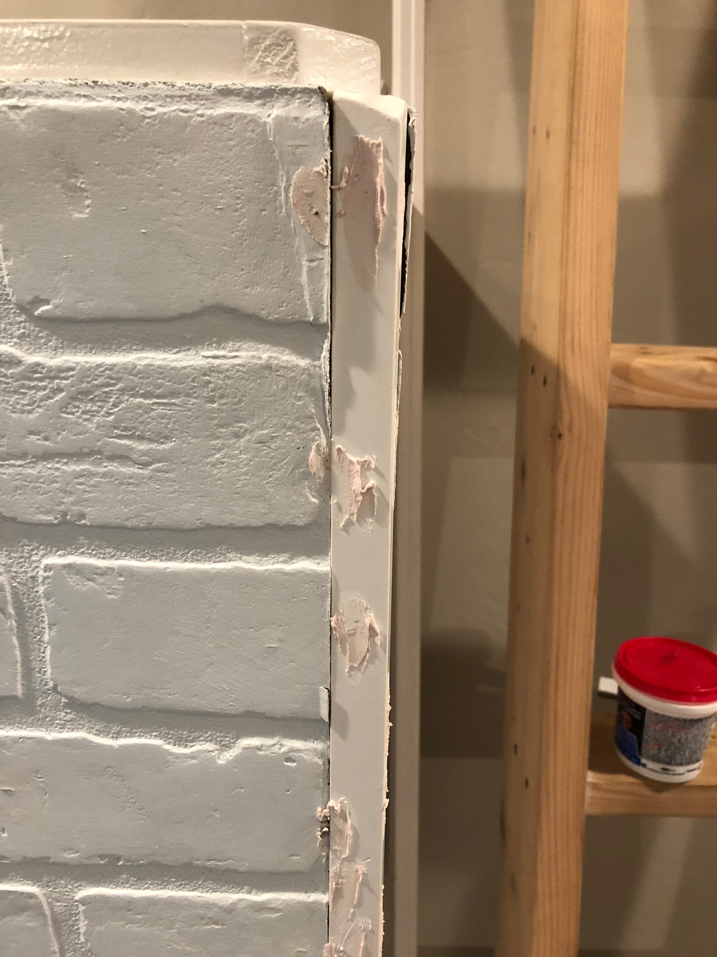 Do it yourself faux brick wall for Do it yourself wall