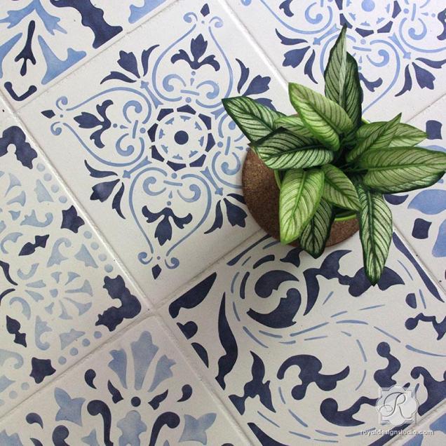 kitchen_floor_tile_stencils_diy_project_decorating_idea